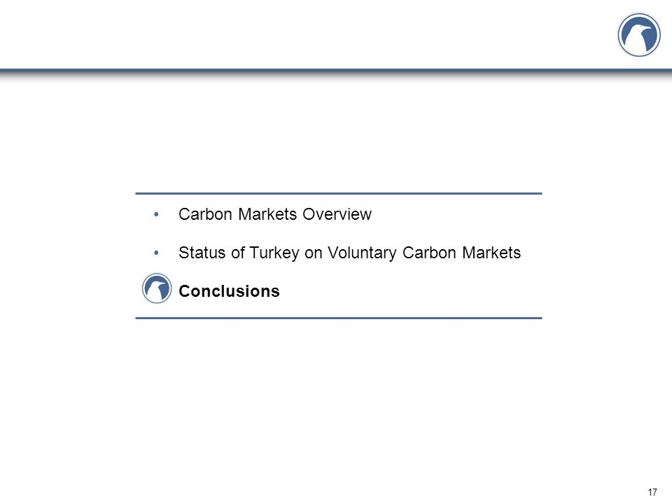 17 Carbon Markets Overview Status of Turkey on Voluntary Carbon Markets Conclusions