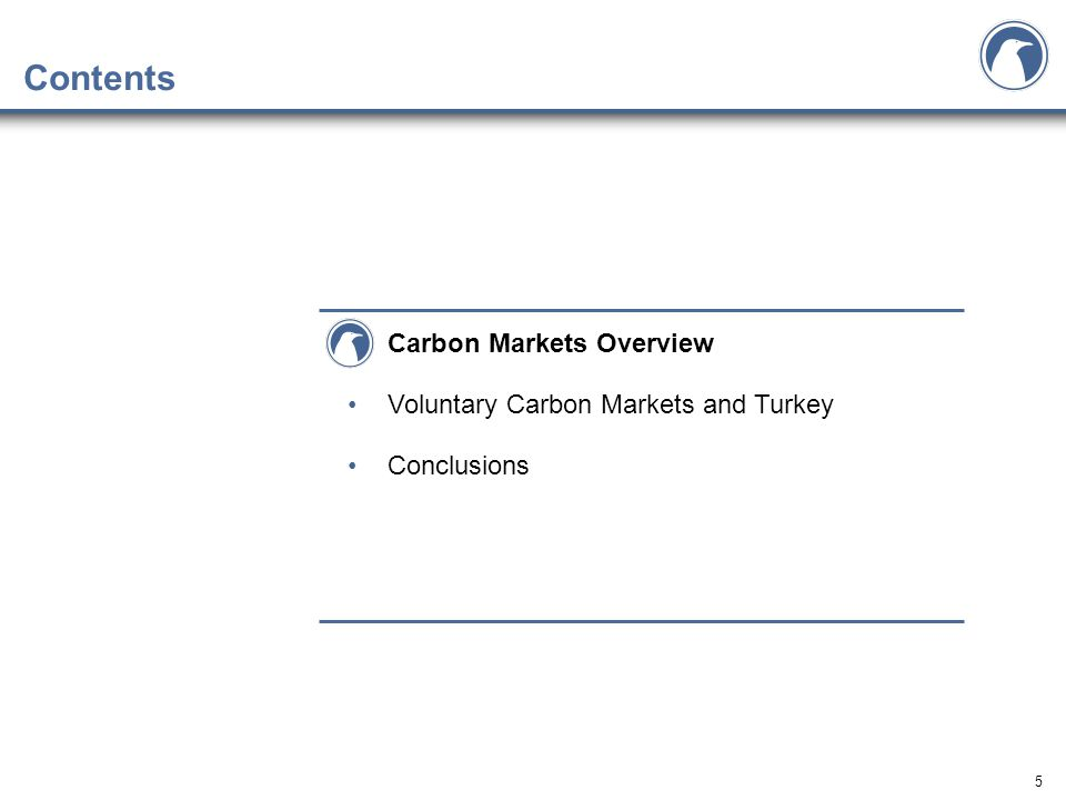 5 Contents Carbon Markets Overview Voluntary Carbon Markets and Turkey Conclusions