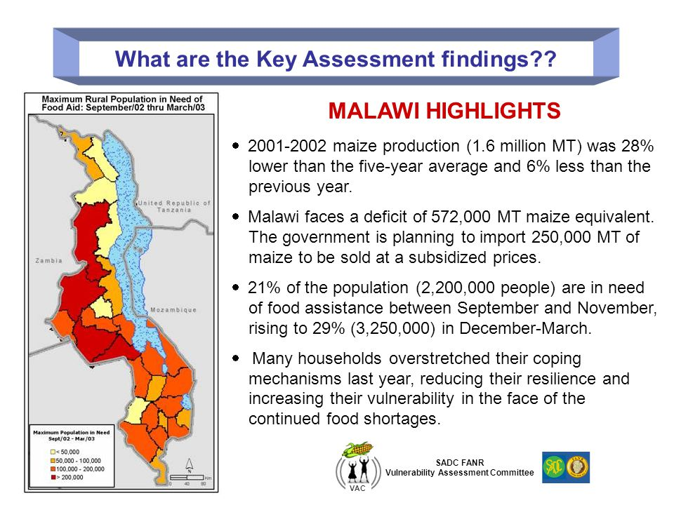 What are the Key Assessment findings?.