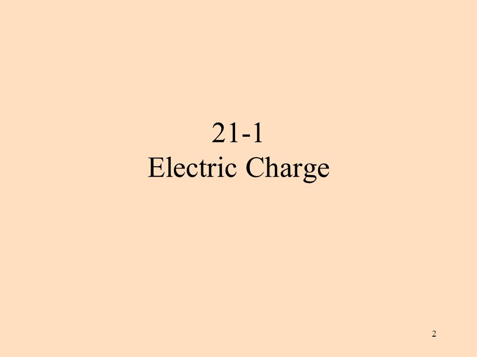 2 21-1 Electric Charge
