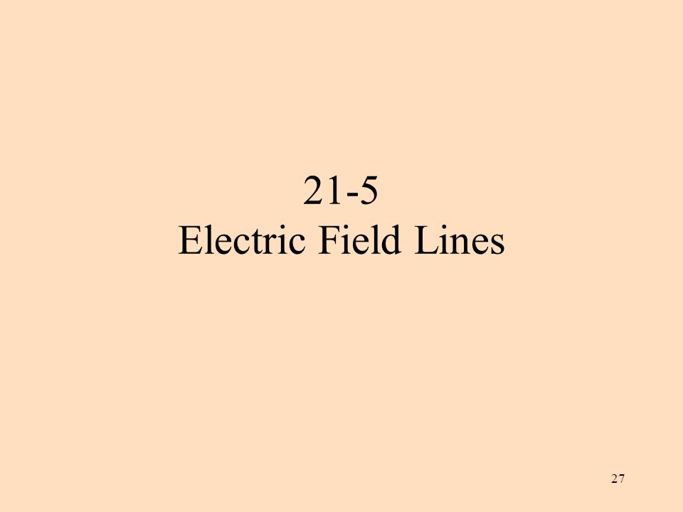 27 21-5 Electric Field Lines