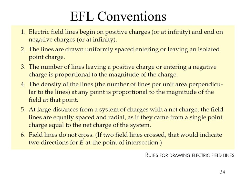 34 EFL Conventions