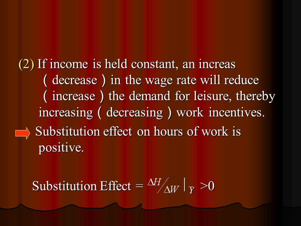 Suppose that the fixed time costs of work increase from ab to ad, then as long as leisure and income are both assumed to be normal goods, hours of both work and leisure time will be reduced.