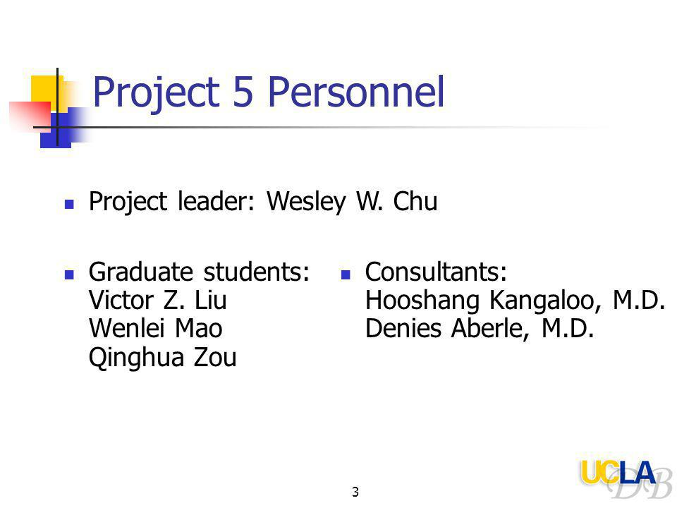 3 Project 5 Personnel Graduate students: Victor Z.
