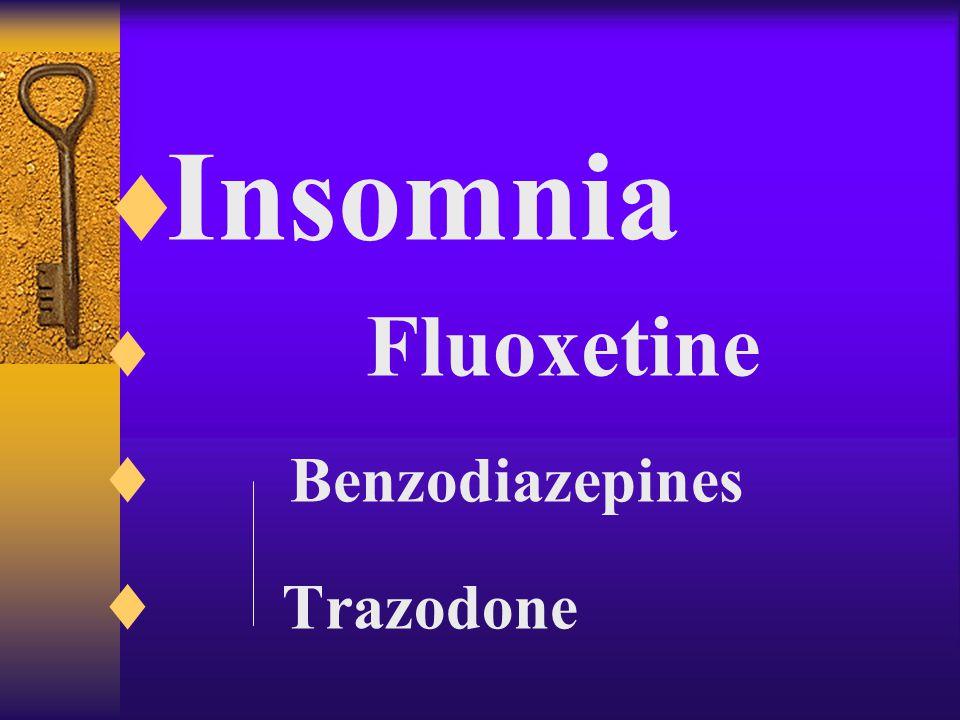  Anxiety  Fluoxetine