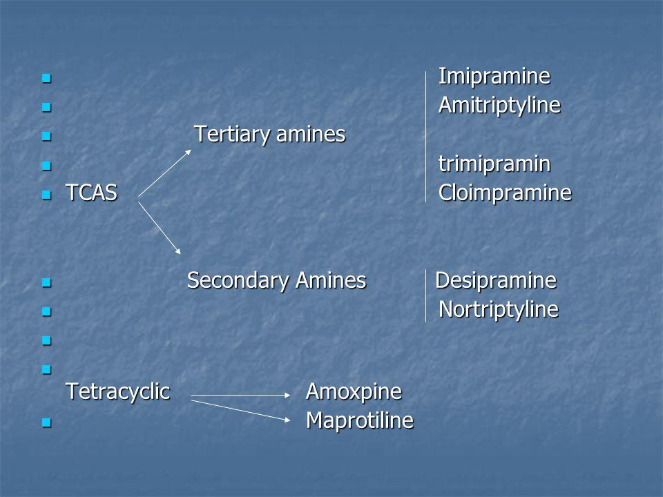 Tricyclics & tetracyclics TCAS