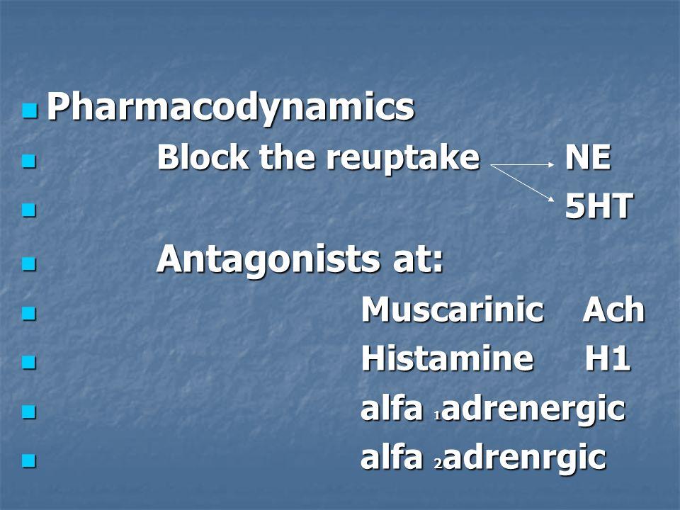 Pharmacokinetics Pharmacokinetics Peak plasma 2-8hr Peak plasma 2-8hr Half- lives 10-70 hr Half- lives 10-70 hr P 450 enzyme system P 450 enzyme system