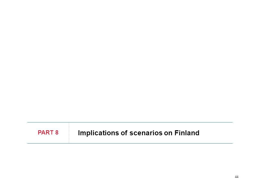 44 PART 8 Implications of scenarios on Finland