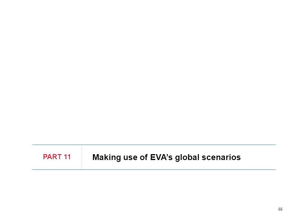 66 PART 11 Making use of EVA's global scenarios