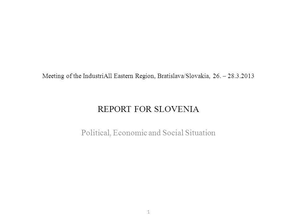 Meeting of the IndustriAll Eastern Region, Bratislava/Slovakia, 26.