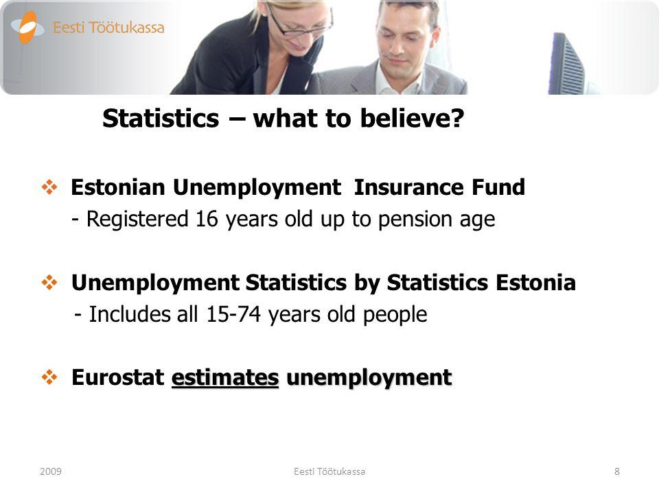 15-74 years old occupied people source: Eesti Statistikaamet 2009.a.