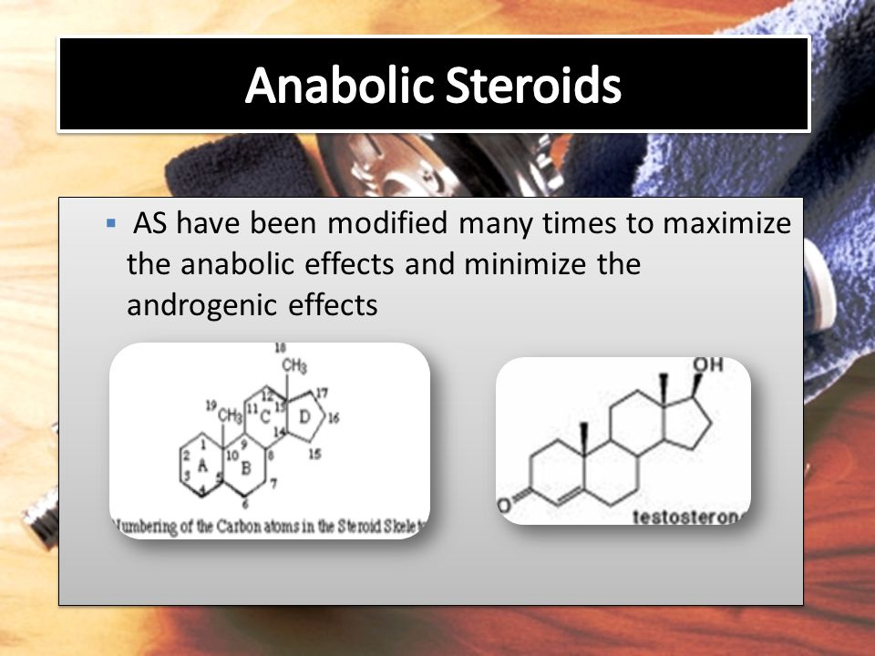  AS have been modified many times to maximize the anabolic effects and minimize the androgenic effects