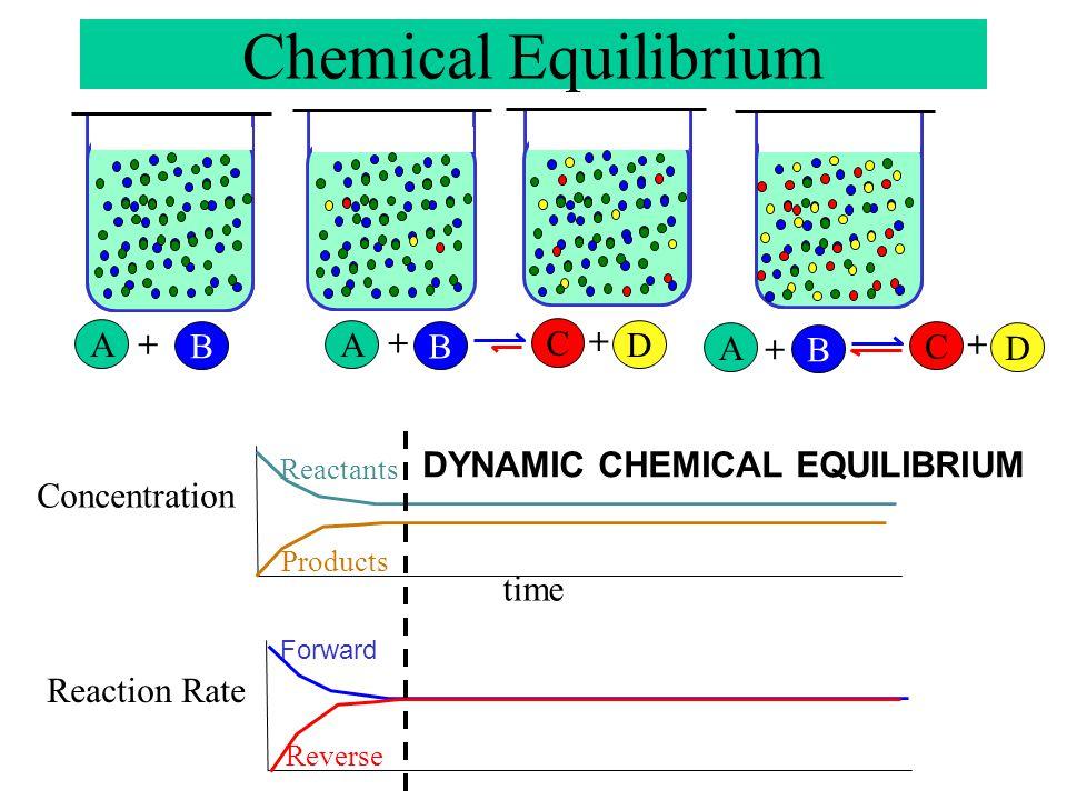 A B + A B + C D + A B + C D + Chemical Equilibrium ……………… …………… ………….. …………… ……………… ………………. ……………………………………………
