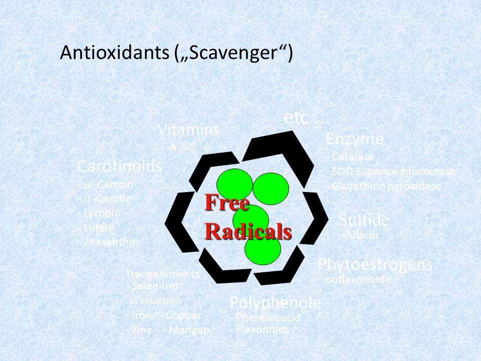 "Antioxidants (""Scavenger ) Vitamins -A -C -E etc..."
