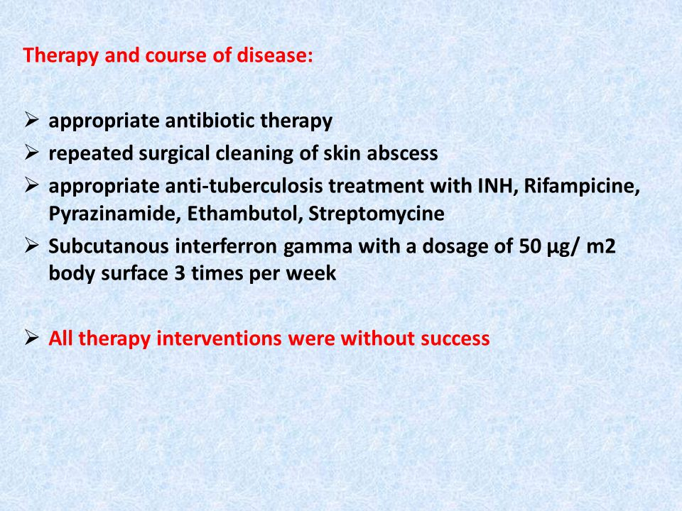 Therapy - Sodium-Selenit oral 300µg/day - Beta-Carotin 10 mg /day - fruit and vegetables approx.