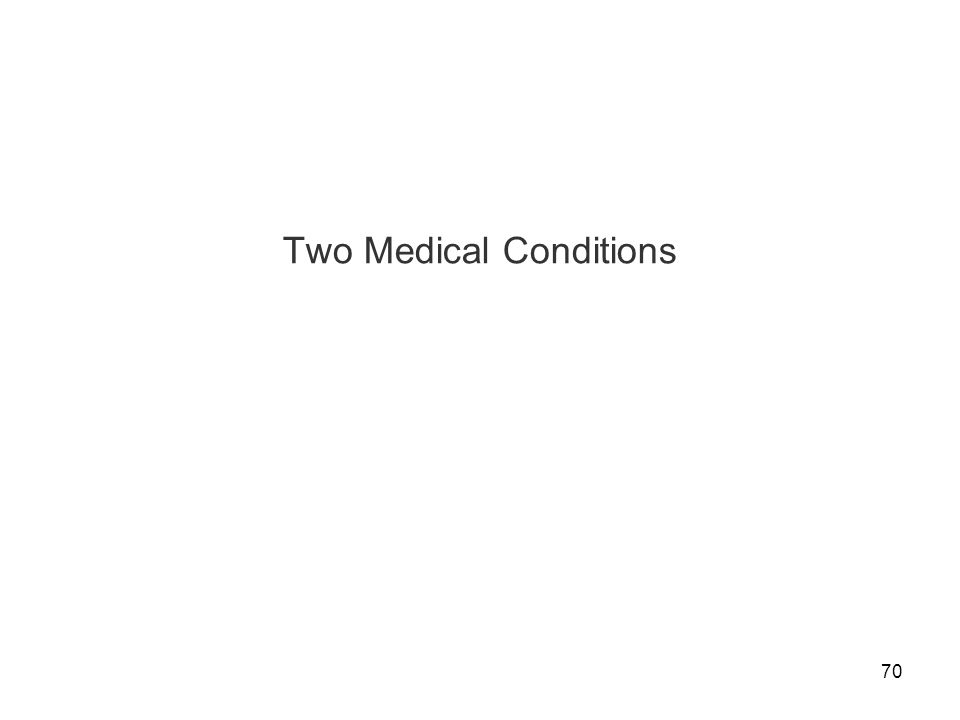 70 Two Medical Conditions