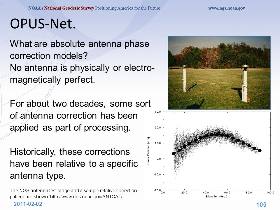 OPUS-Net. What are absolute antenna phase correction models? No antenna is physically or electro- magnetically perfect. For about two decades, some so