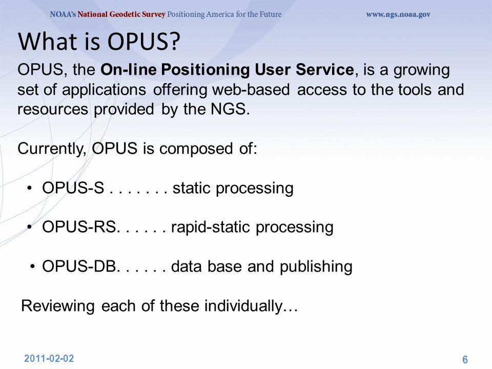 OPUS-DB Interface.