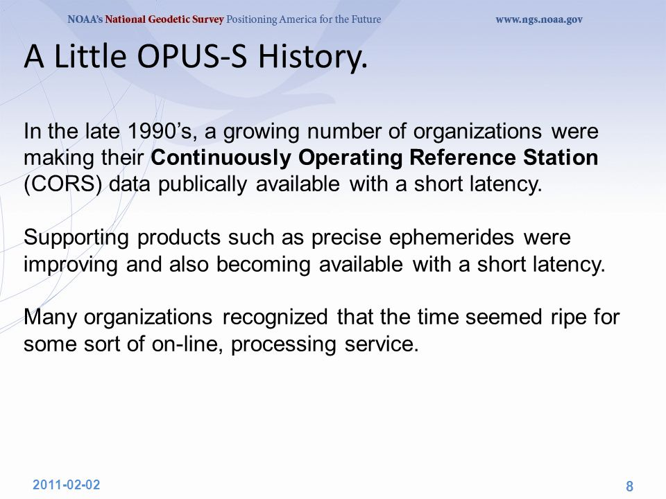 A Little OPUS-DB History.