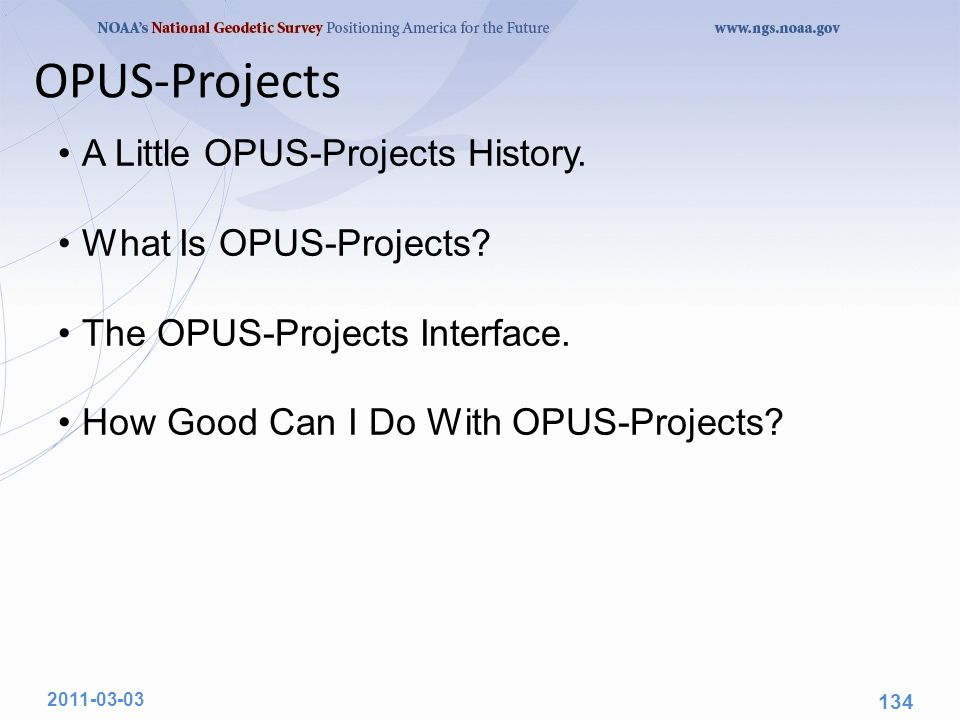 OPUS-Projects A Little OPUS-Projects History. What Is OPUS-Projects.