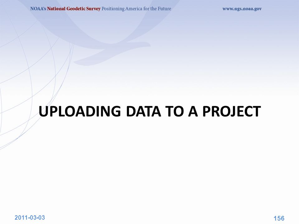 UPLOADING DATA TO A PROJECT 2011-03-03 156