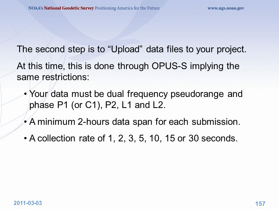 The second step is to Upload data files to your project.