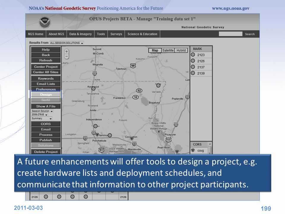 A future enhancements will offer tools to design a project, e.g.