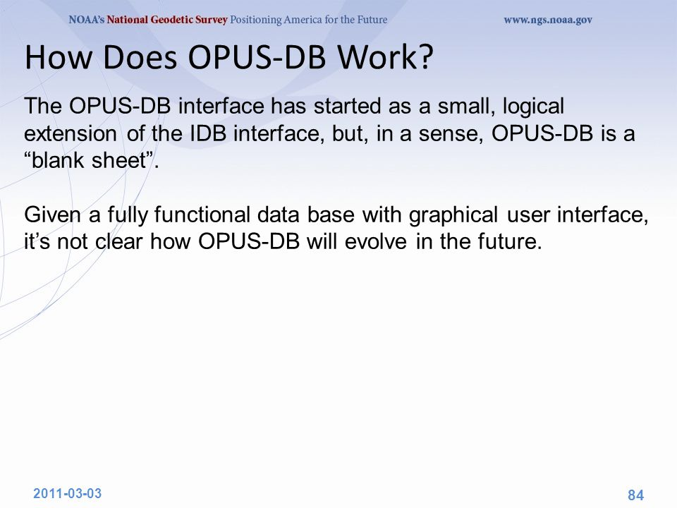 How Does OPUS-DB Work.
