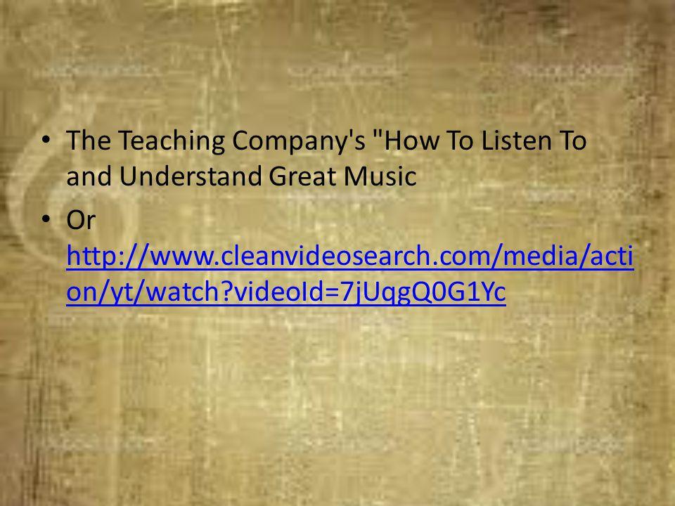 The Teaching Company's