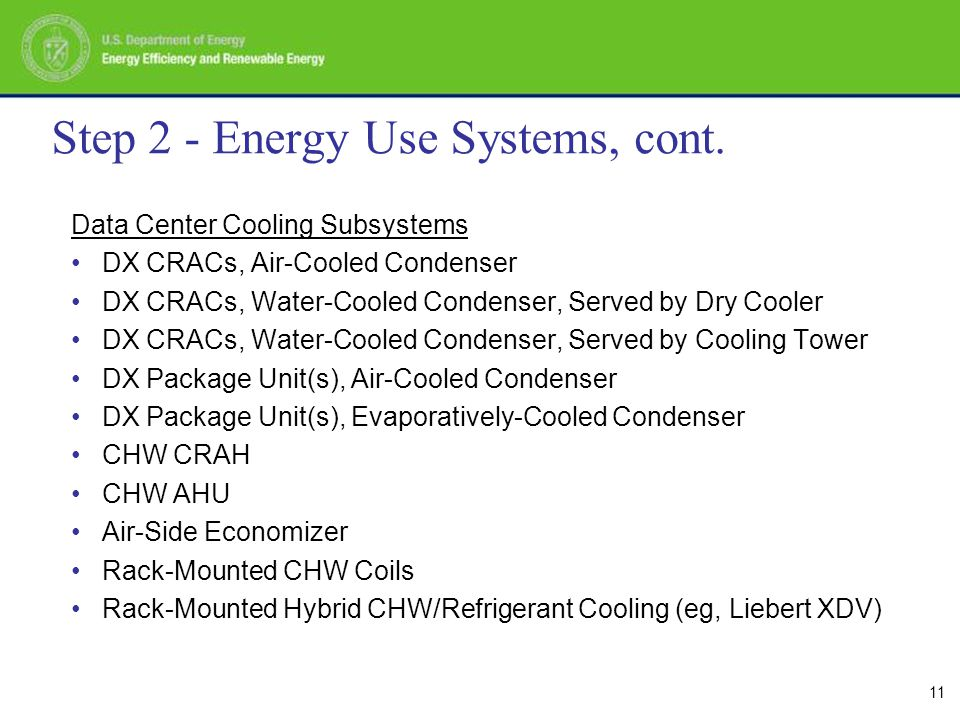 11 Step 2 - Energy Use Systems, cont.