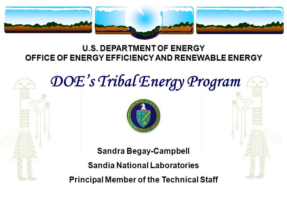 U.S. DEPARTMENT OF ENERGY OFFICE OF ENERGY EFFICIENCY AND RENEWABLE ENERGY U.S.