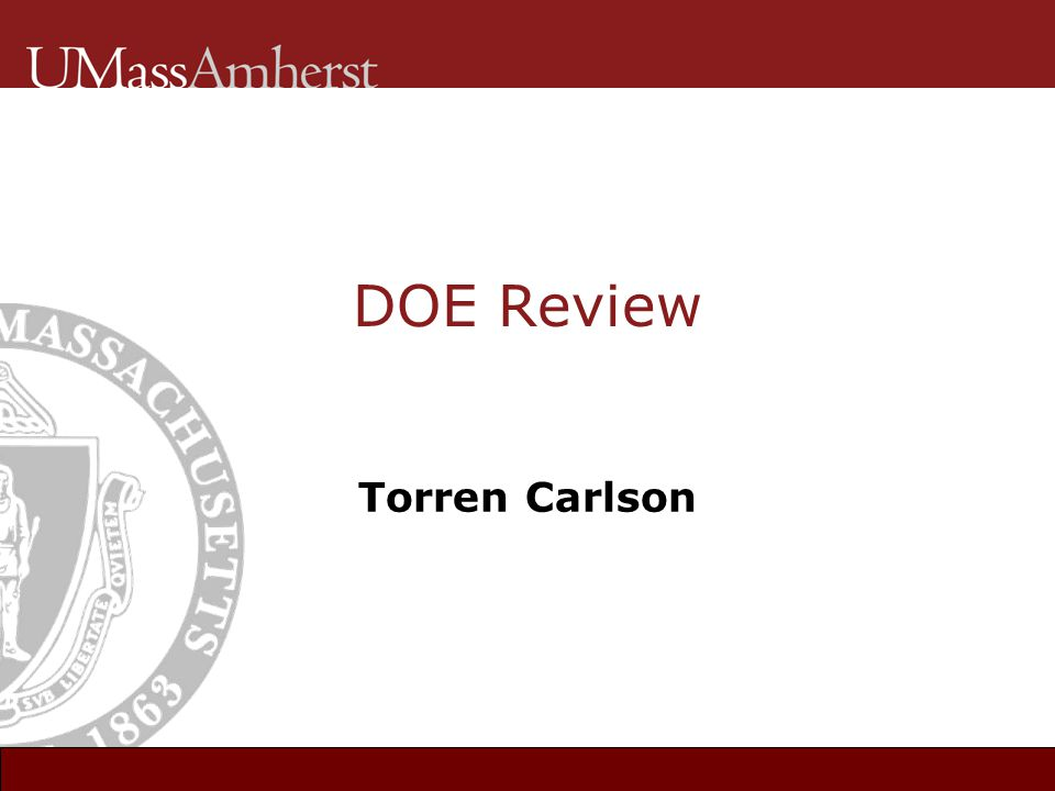 DOE Review Torren Carlson