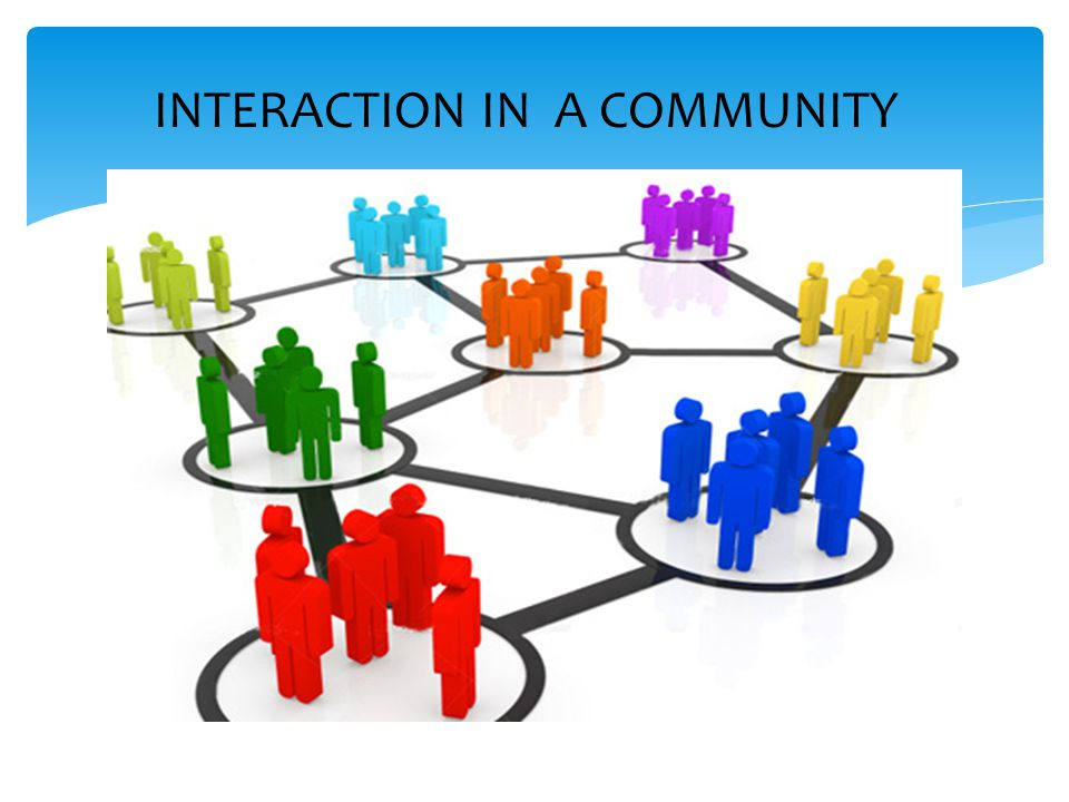 INTERACTION IN A COMMUNITY