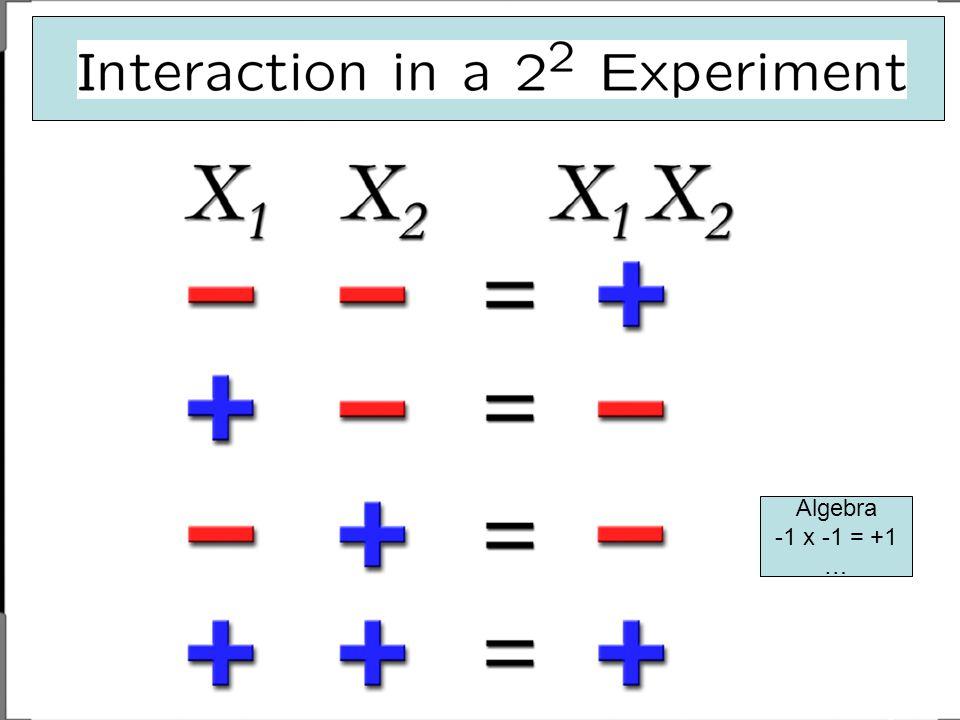 Algebra -1 x -1 = +1 …