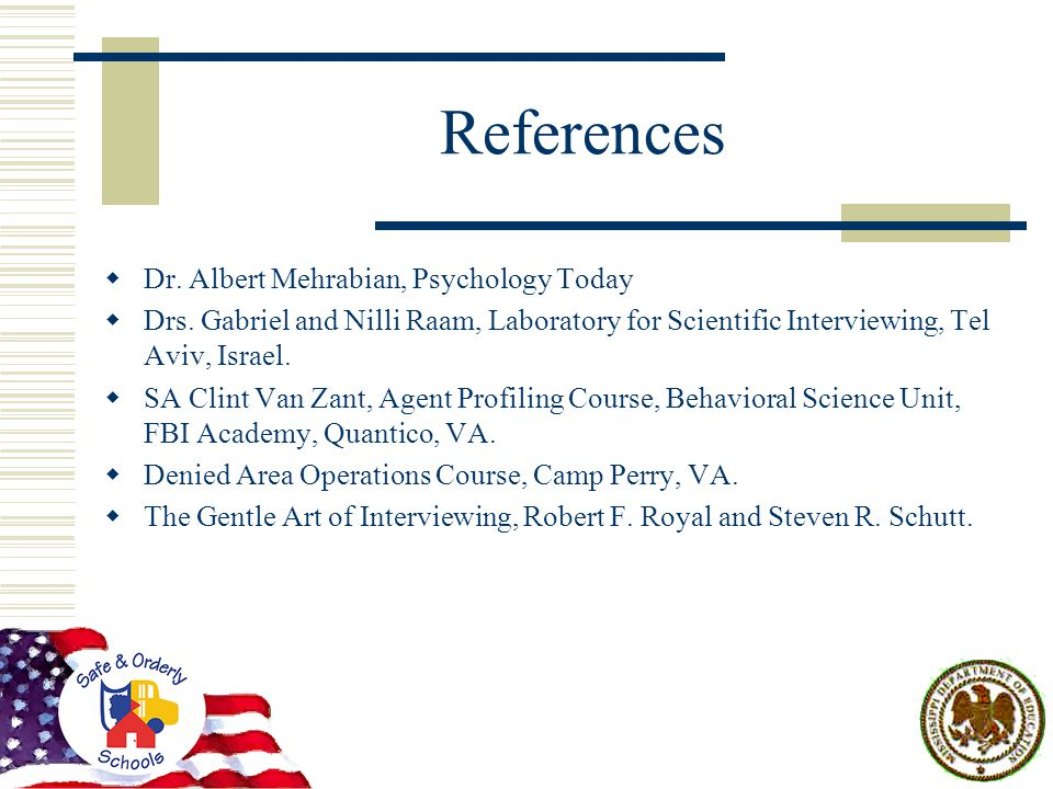 References  Dr. Albert Mehrabian, Psychology Today  Drs.