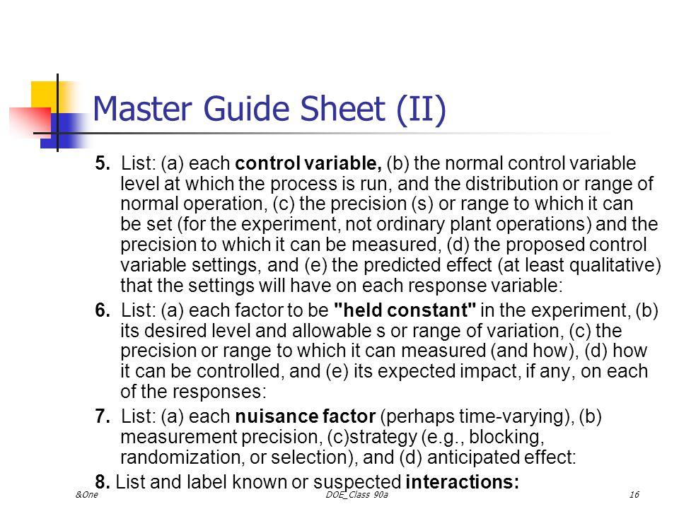 &OneDOE_Class 90a15 Master Guide Sheet (I) 1.