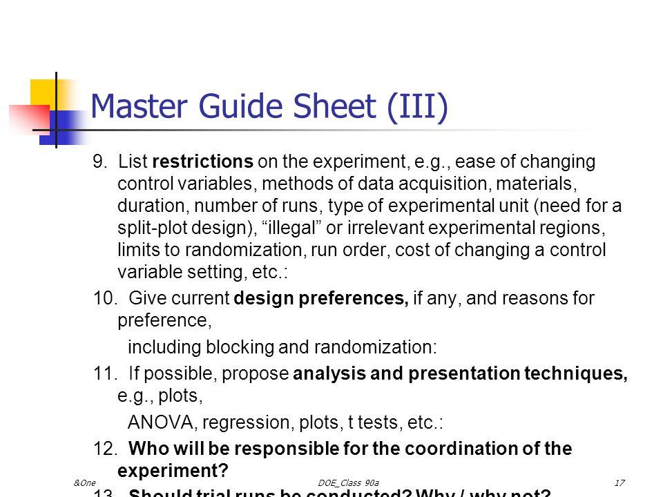 &OneDOE_Class 90a16 Master Guide Sheet (II) 5.