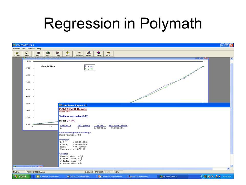 Regression in Polymath