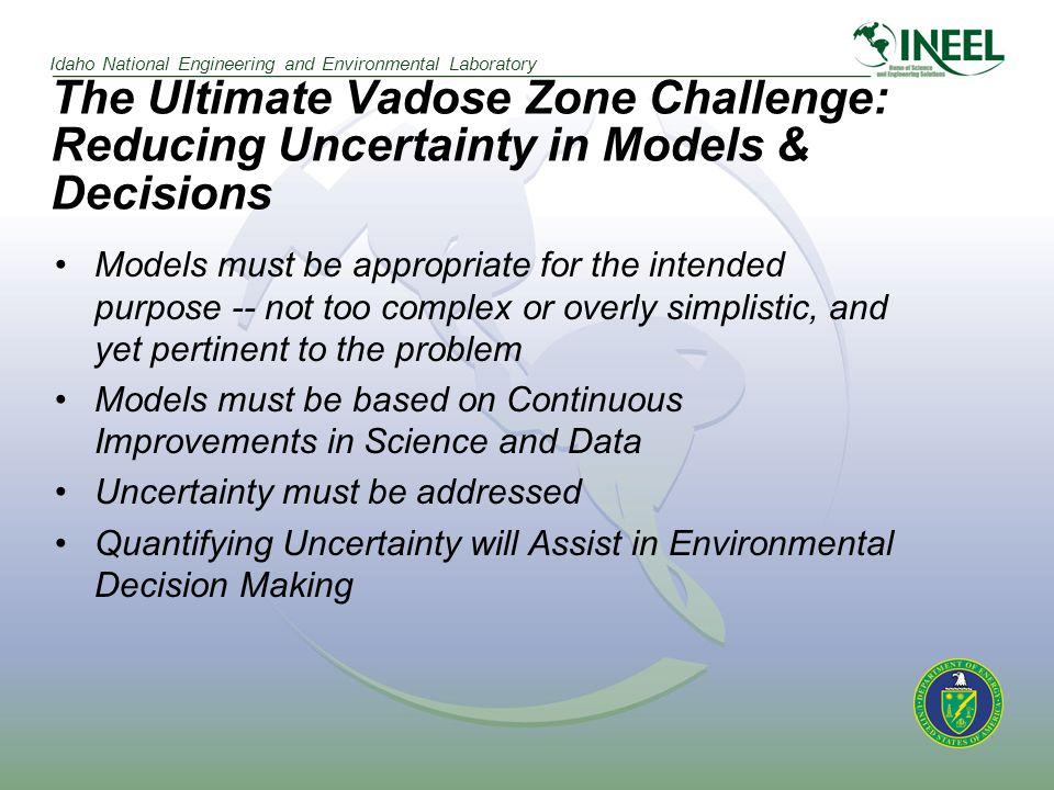 Idaho National Engineering and Environmental Laboratory CONCEPTUALIZATION & DECISION MAKING PROCESS