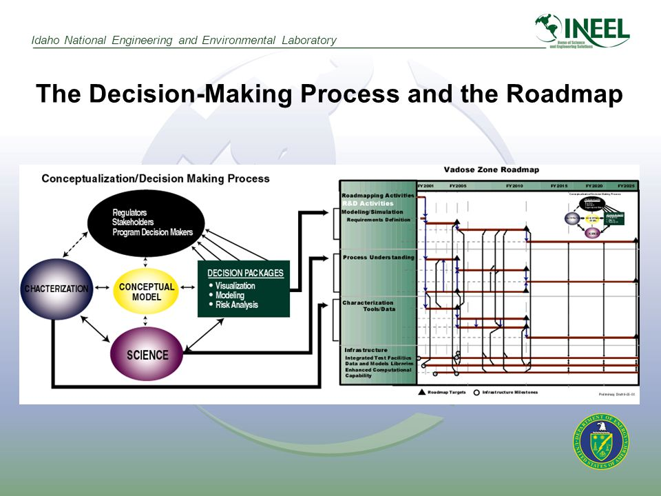 Idaho National Engineering and Environmental Laboratory The Decision-Making Process and the Roadmap