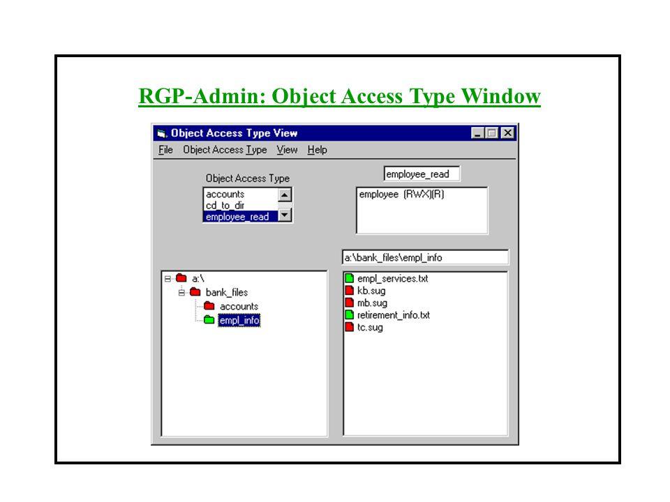 RGP-Admin: Object Access Type Window