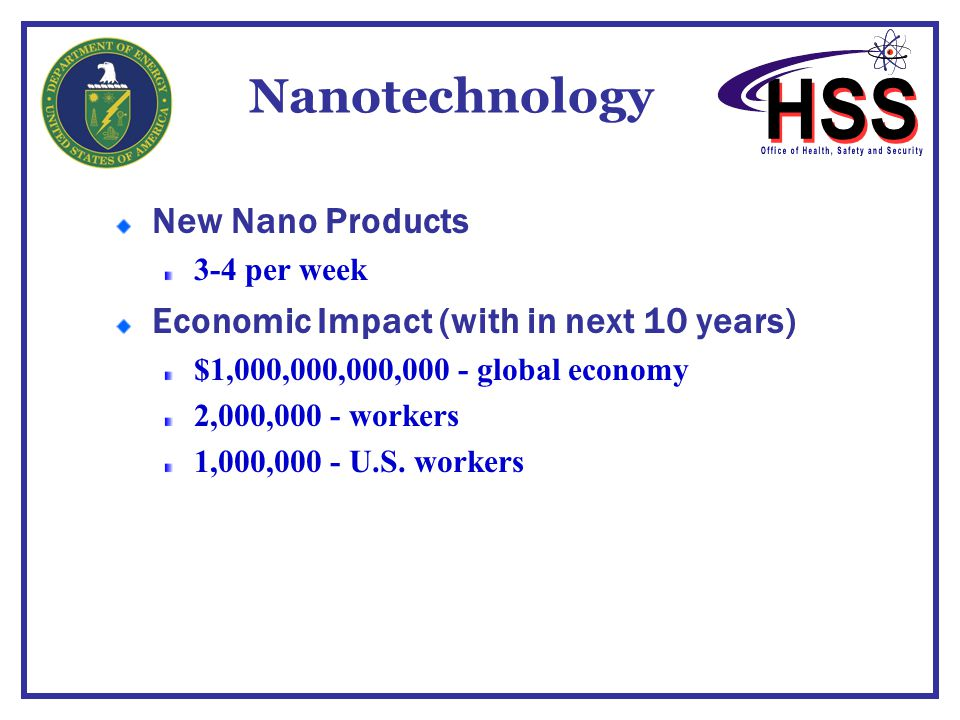 Nanotechnology Policy at the Department of Energy