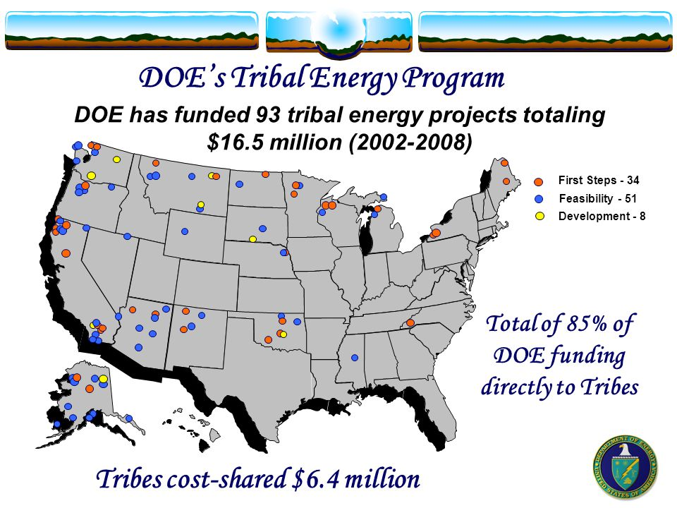 Ramona Band of Cahuilla (California) Renewable power for the Tribe's ecotourism business – Planned as the first Reservation to be completely off-grid Alternative Energy Powering a Reservation DOE's Tribal Energy Program Alternative Energy Powering a Reservation