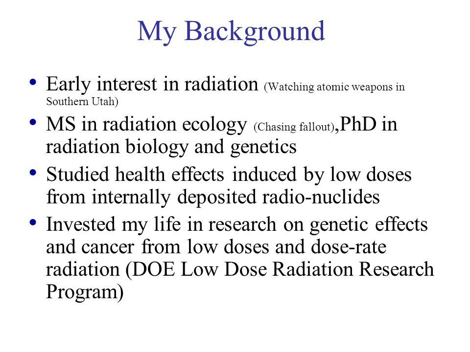 Radiation Bad Diet Drinker Smoker Why Me??