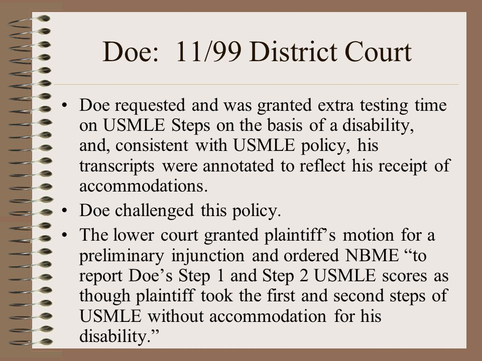 Baer: 5/05 District Court While Baer has shown that she likely suffers from some weakness or impairment that adversely affects her ability to read, comprehend and process written material quickly, she has not shown that she is likely to succeed in demonstrating that her impairment has such a severe impact on her that it can properly be regarded as 'substantially limiting' her in a 'major life activity'.…