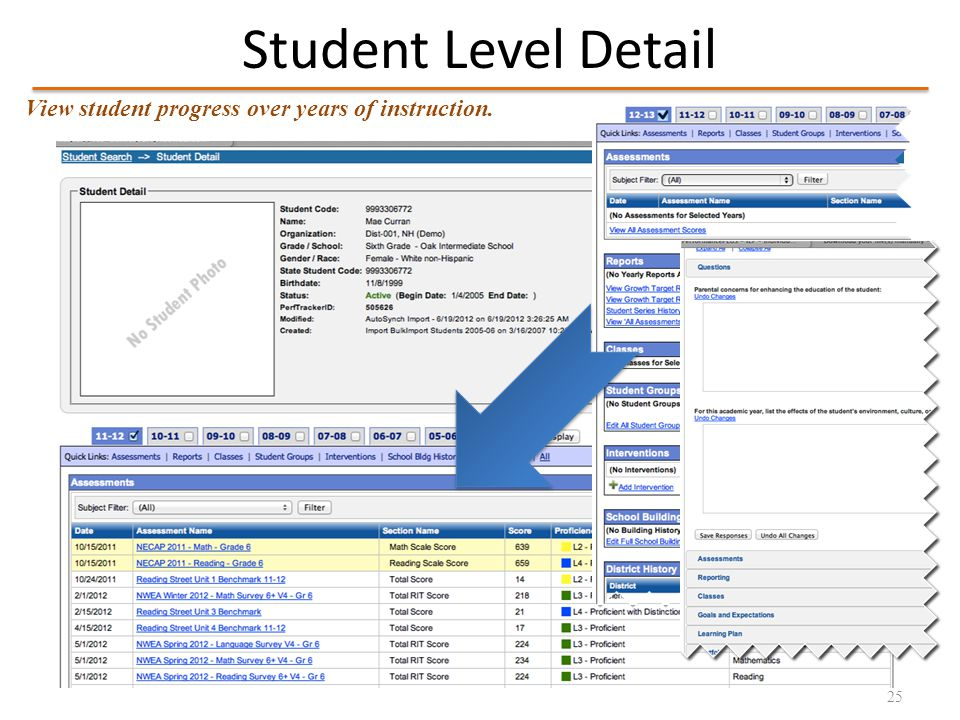 Consider Results by Standard 26 View proficiency by standard across multiple assessments (e.g.