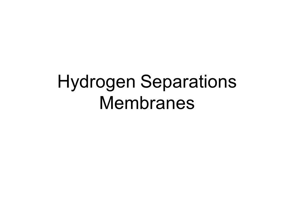 Hydrogen Separations Membranes