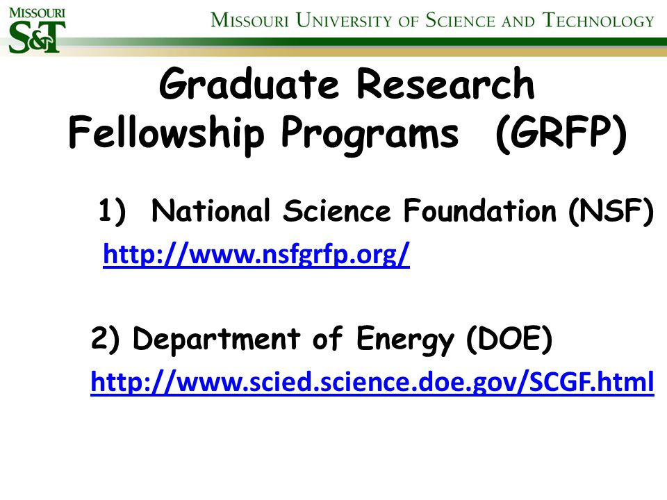 NSF GRFP Eligibility Information Citizenship – US citizens or nationals or permanent resident aliens of the U.S.