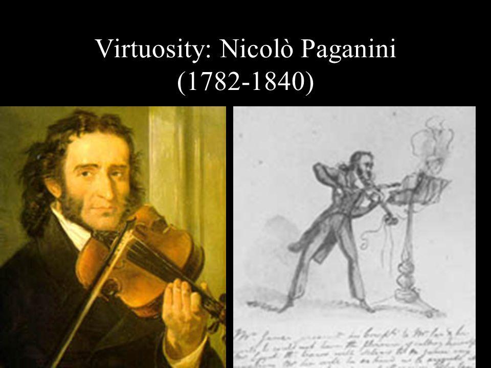 Virtuosity: Nicolò Paganini (1782-1840)