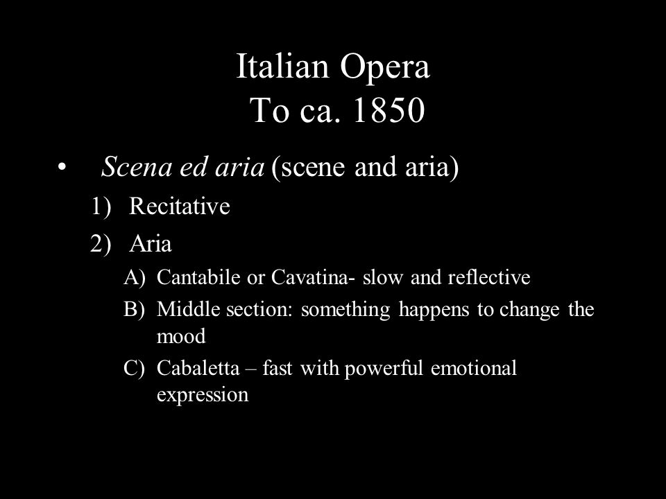 Italian Opera To ca.